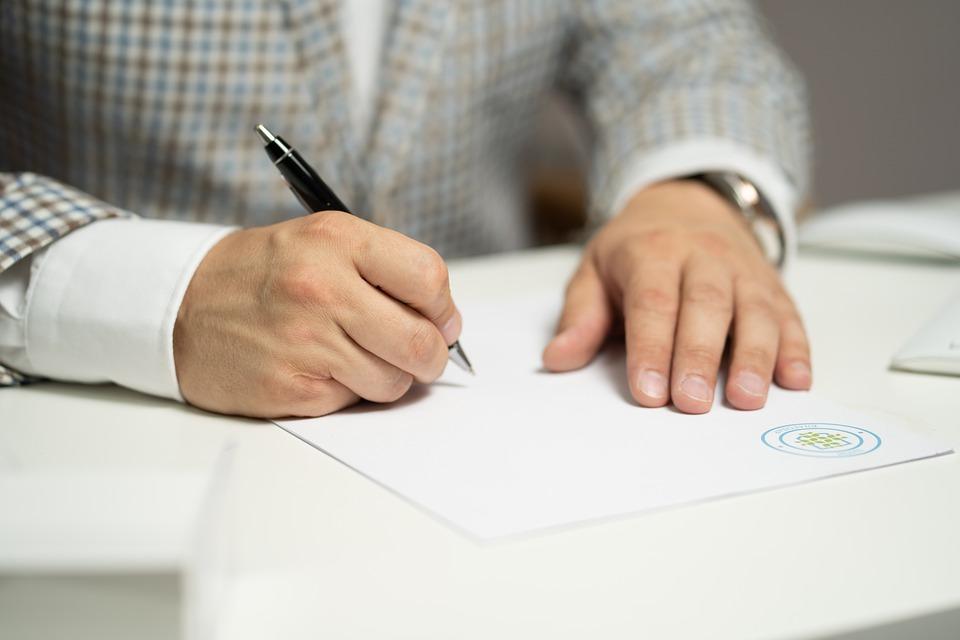 podpis, zmluva
